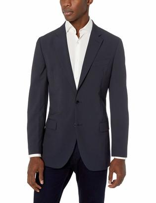 Nautica Men's Bi-Stretch Slim Fit Suit Separate (Blazer and Pant) Navy Stripe 44R