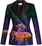 Mary Katrantzou Centaur-print double-breasted velvet blazer