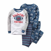 Carter's 4-pc. Cotton Football Pajama Set - Baby Boys newborn-24m