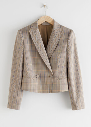 And other stories Cropped Double Breasted Blazer