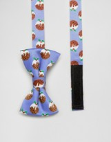 SSDD Mini Holidays Pudding Bow Tie
