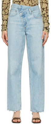 AGOLDE Blue Criss Cross Jeans