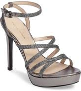 Pelle Moda Metallic Platform Ankle Strap Sandal (Women)