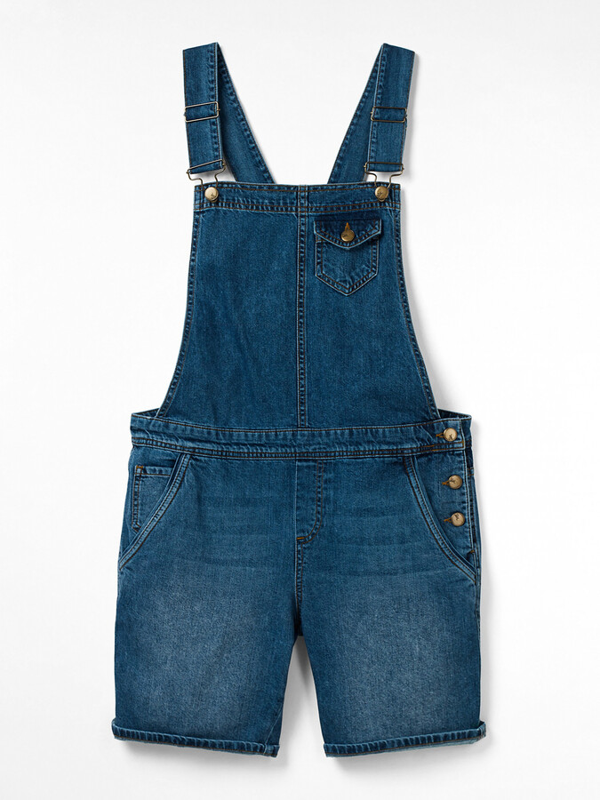 White Stuff Shorts Denim Dungaree