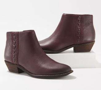Zodiac Leather Side-Zip Booties - Morrisey