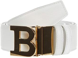Bally B Buckle 40 M Belt Adjustable/Reversible Belt (White) Men's Belts