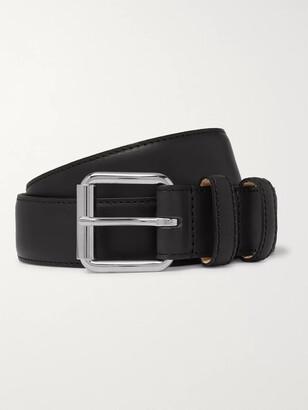 A.P.C. 3cm Black Paris Leather Belt