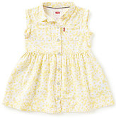 Levi's Baby Girls 12-24 Months Printed Rolled Short-Sleeve Woven Dress