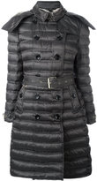 Burberry double-breasted parka coat - women - Polyamide/Polyester/Goose Down - XS