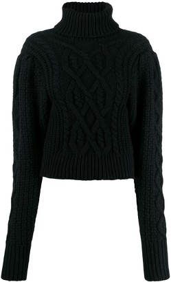 Wandering Cable-Knit Roll Neck Sweater