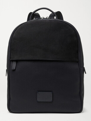 Andersons Full-Grain Leather And Suede Backpack