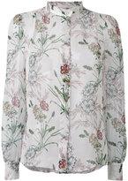 Giambattista Valli floral band collar shirt - women - Silk - 42