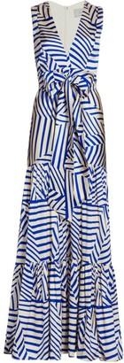 Silvia Tcherassi Polly Striped Maxi Dress