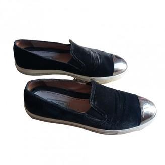 Miu Miu Black Velvet Flats