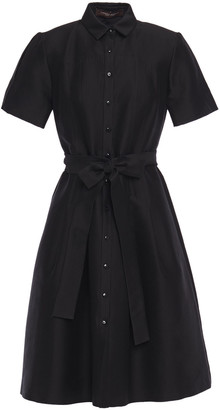 Carolina Herrera Belted Cotton And Silk-blend Twill Shirt Dress