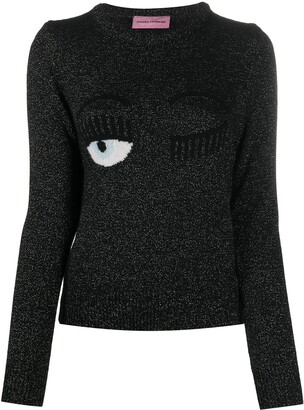 Chiara Ferragni Flirting embroidered jumper