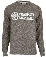 River Island MensBlack marl Franklin & Marshall sweatshirt