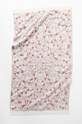 Anthropologie Vinnie Leopard Towel Collection By in Pink Size BATH TOWEL