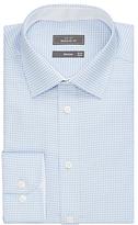 John Lewis Non Iron Puppytooth Regular Fit Shirt Blue/white