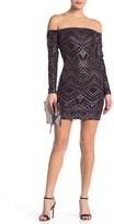 Jump Off-the-Shoulder Long Sleeve Cocktail Dress