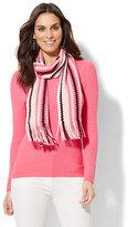 New York & Co. Ribbed-Knit V-Neck Sweater