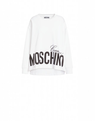 Moschino Couture Cotton Sweatshirt Woman White Size 36 It - (2 Us)