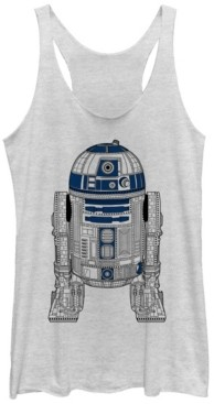 Fifth Sun Star Wars R2-D2 Outline Tri-Blend Racer Back Tank