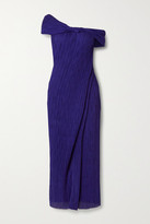 Thumbnail for your product : Jason Wu Collection Off-the-shoulder Georgette Maxi Dress - Indigo