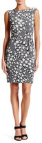 Anne Klein Side Twist Printed Dress