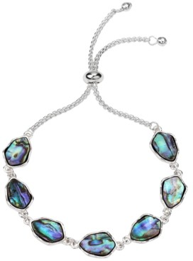 Style&Co. Style & Co Silver-Tone Stone Slider Bracelet, Created for Macy's