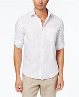 Tasso Elba Men's Textured Linen Shirt, Created for Macy's
