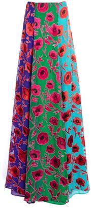 Alice + Olivia Aquinnah Floral Print Maxi Skirt