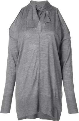 Nude cold shoulder sweatshirt