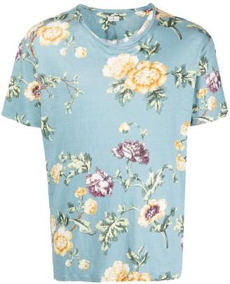 Etro floral-print linen T-shirt