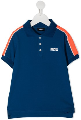 Diesel Tralfys1 striped band polo shirt