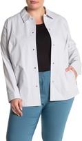 Lafayette 148 New York Jaren Collared Snap Jacket (Plus Size)