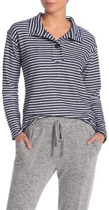 Gibson Slub Striped Knit Polo