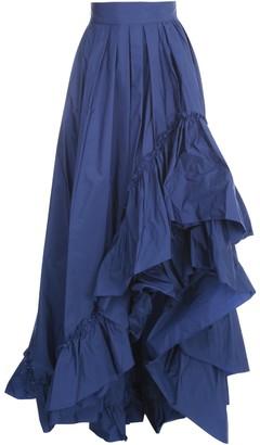 Max Mara Asymmetric Ruffled Skirt