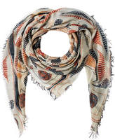 Figue Bengal Kantha Print Scarf with Silk