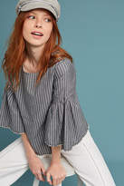 Dolan Left Coast Striped Bell-Sleeve Top