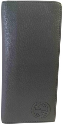 Gucci Anthracite Leather Wallets