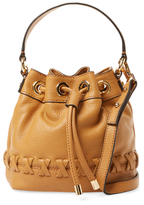 Milly Astor Whipstitch Small Leather Bucket Bag