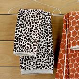 Organic Animal Print Jacquard Towels
