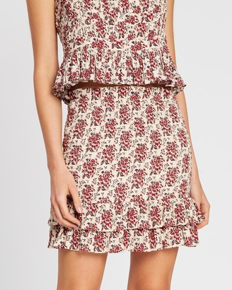SIR the Label Flore Ruched Mini Skirt