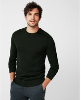 Express merino wool blend performance crew neck sweater