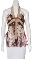 Alberta Ferretti Structured Silk Top