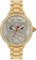 Betsey Johnson Women's Owl Gold-Tone Bracelet Watch 20mm