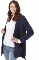 Superdry Womens Whistler Tweed Rib Cardigan Navy