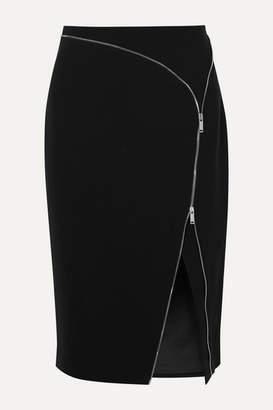Altuzarra Peck Zip-embellished Cady Midi Skirt - Black