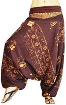 bonzaai virblatt harem pants unisex aladdin pants alternative clothing - AllesImWunderland